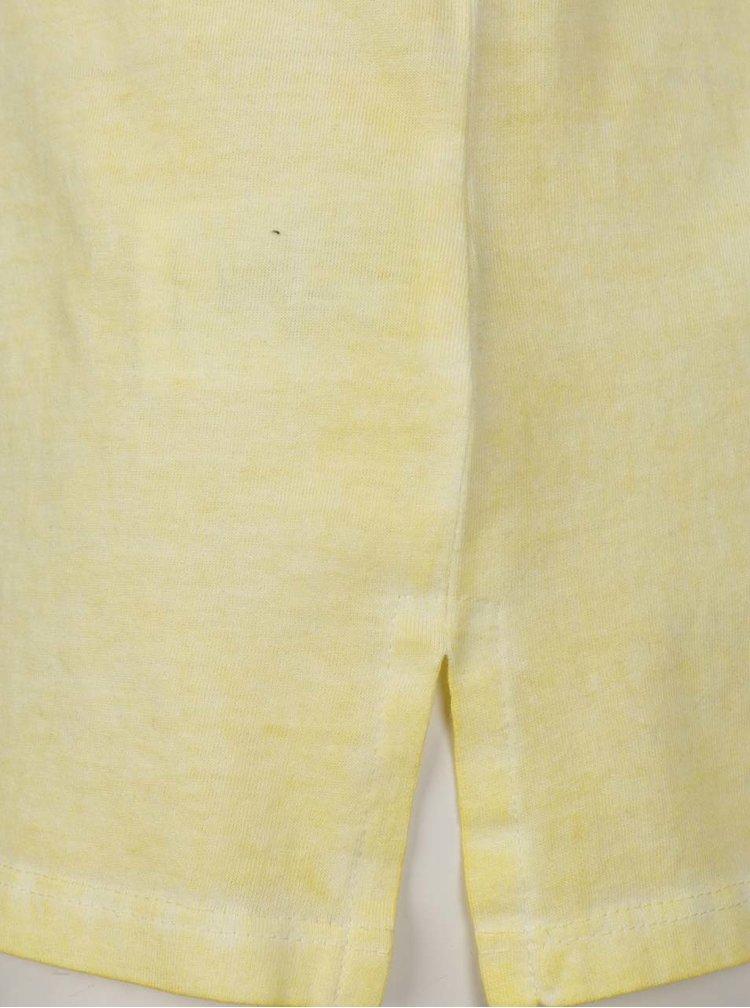Tricou galben Gina Laura cu imprimeu și paiete