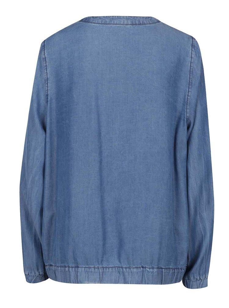 Modrý lehký džínový bomber Gina Laura