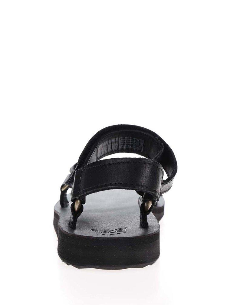 Sandale negre din piele Teva pentru femei