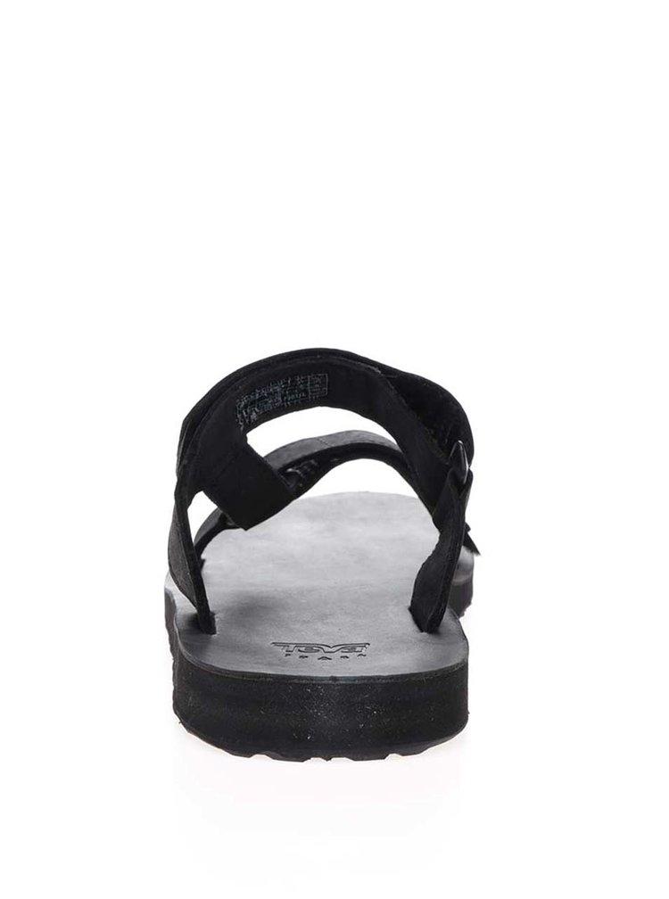 Černé kožené pánské pantofle Teva