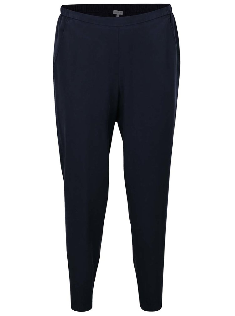 Pantaloni bleumarin Gina Laura cu talie inalta