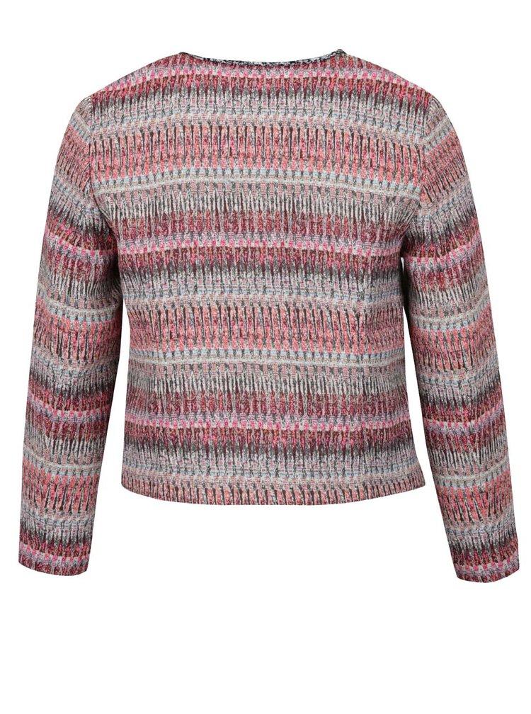 Jachetă roz & gri Ulla Popken cu model în dungi