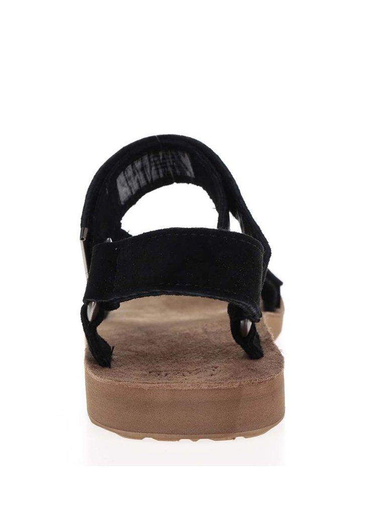 Černé pánské kožené sandály Teva