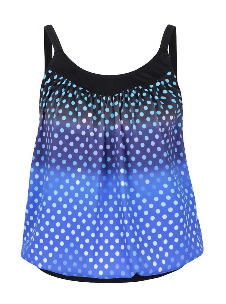 Modré puntíkované tankini plavky s ombré efektem Gina Laura