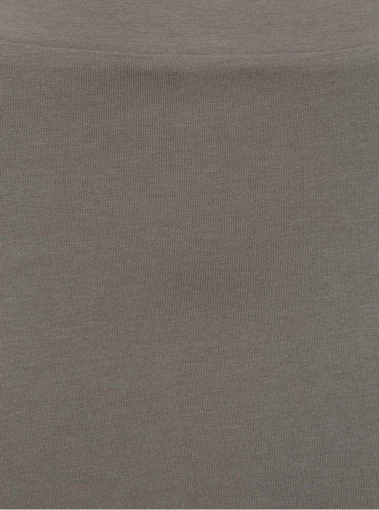 Khaki maxi sukně s rozparkem VILA Honesty