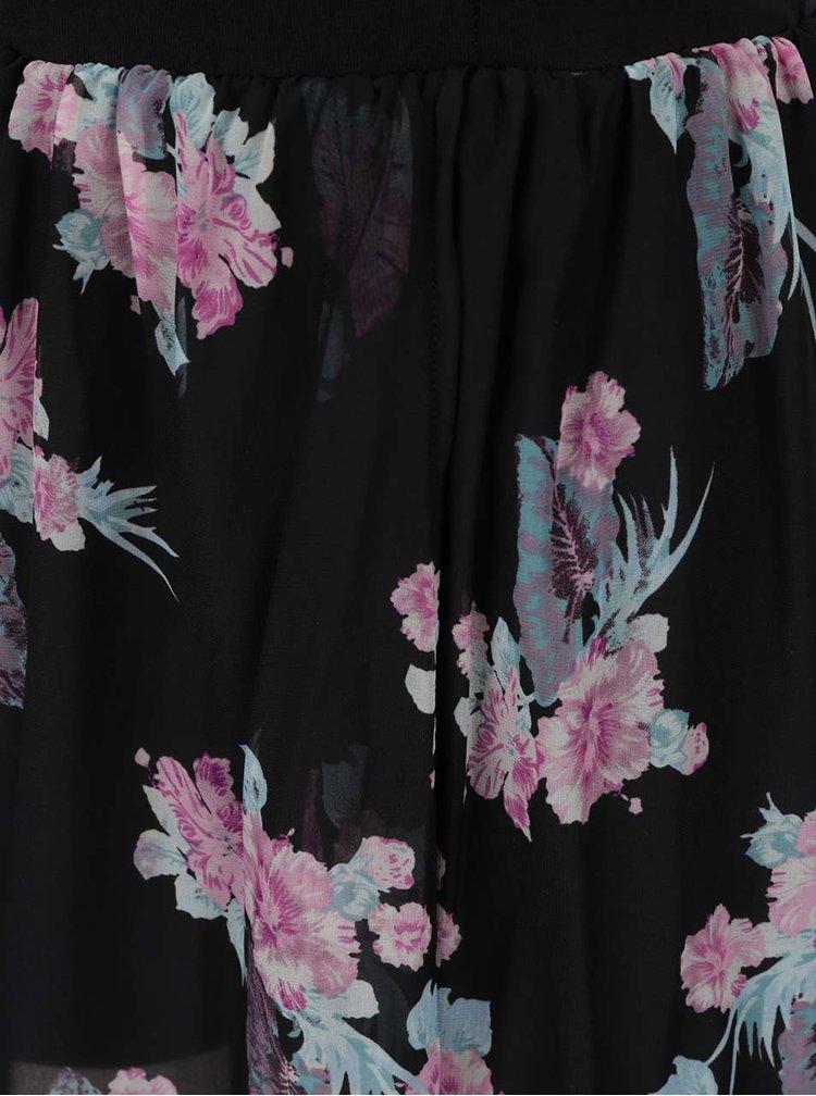 Rochie neagra TALLY WEiJL cu model floral in partea inferioara