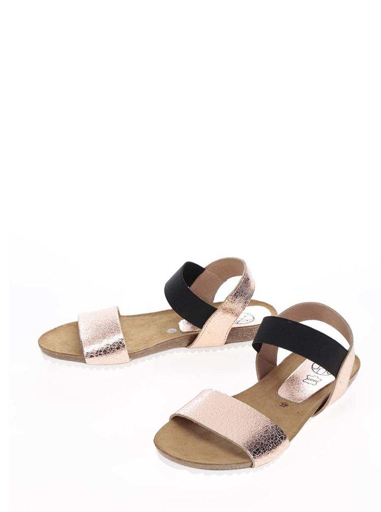 Sandale auriu rose OJJU din piele