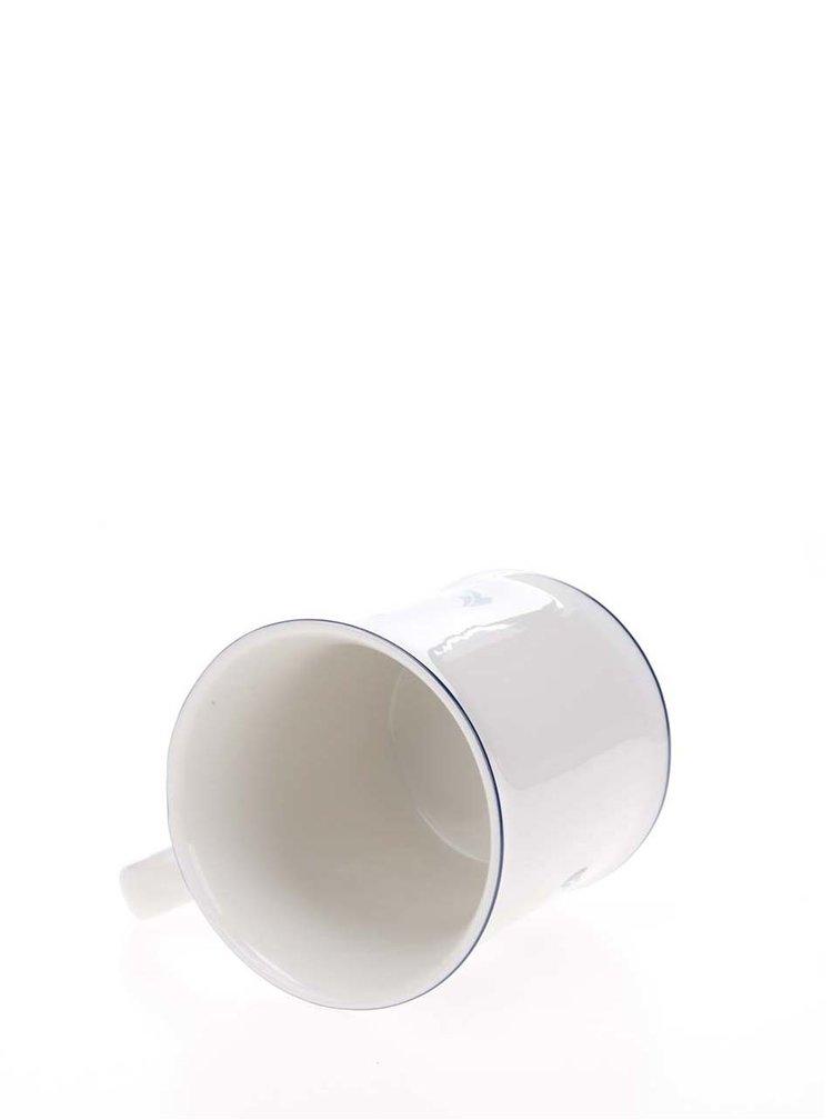 Bílý hrnek s potiskem kotvy Sass & Belle