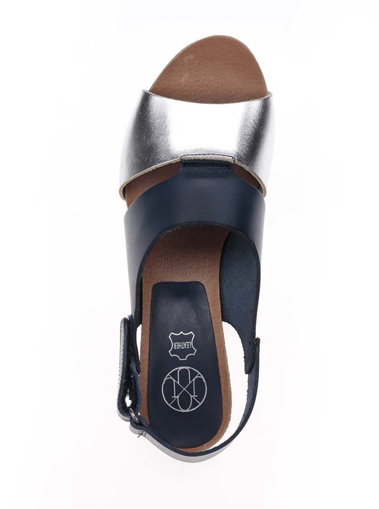 Sandale albastru inchis OJJU din piele