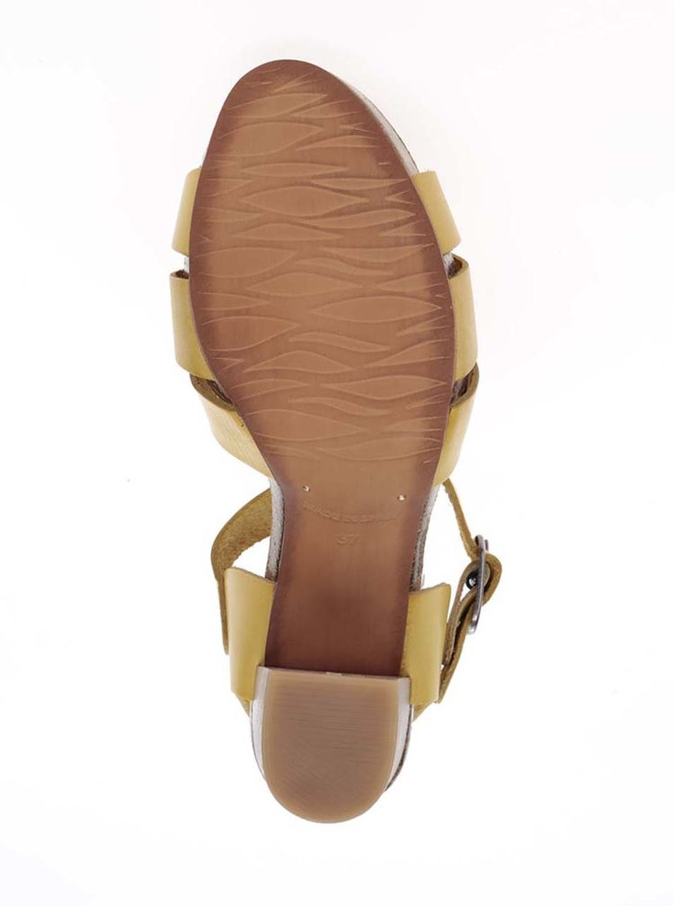 Sandale galbene OJJU din piele