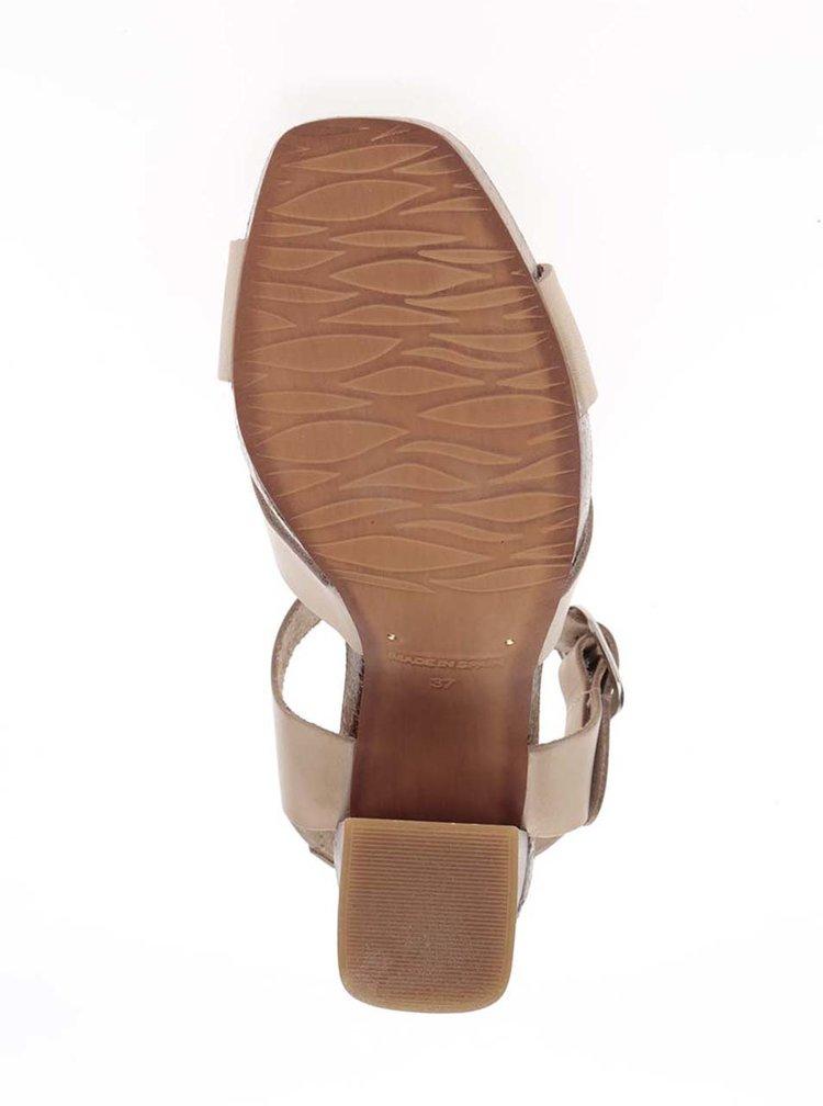 Sandale bej OJJU din piele
