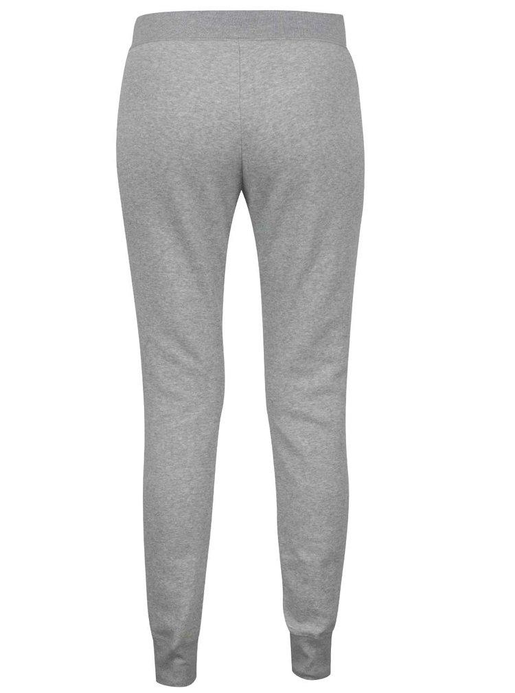 Pantaloni gri melanj NIke cu terminații elastice