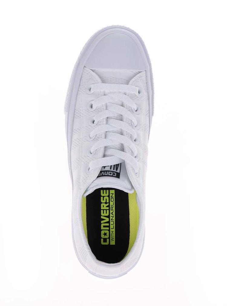 Teniși albi Converse cu model discret