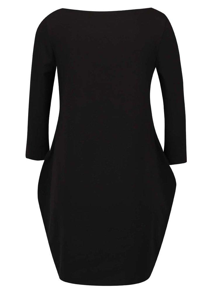 Černé šaty s potiskem Mikela da Luka