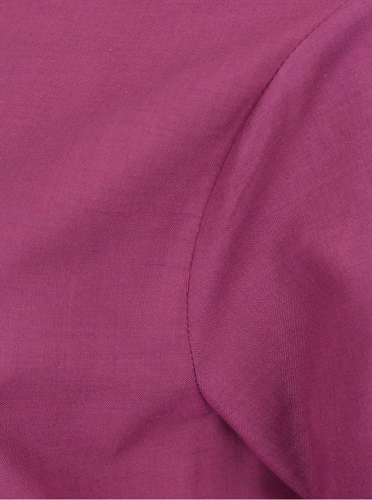 Fialová voľná asymetrická blúzka Bianca Popp