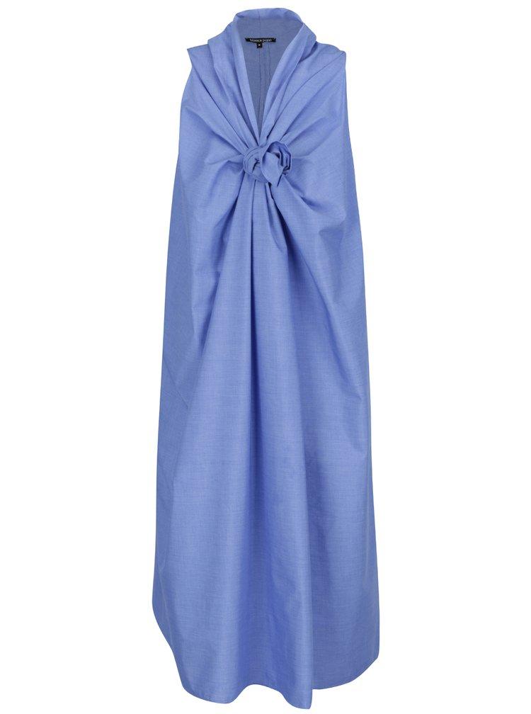 Rochie albastra Bianca Popp  cu nod decorativ