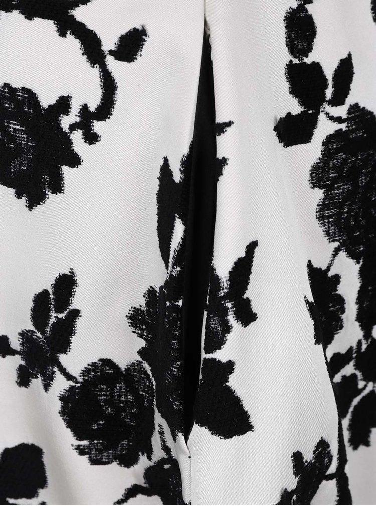 Krémové květované šaty s prodlouženým zadním dílem Closet