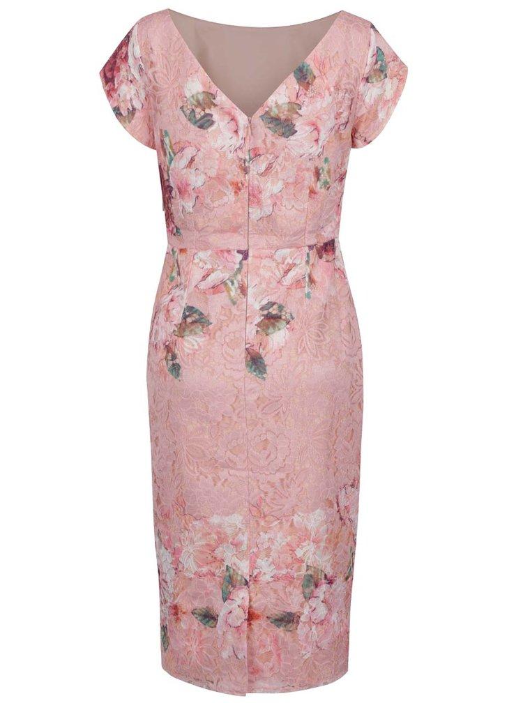 Rochie roz deschis Little Mistress cu model floral