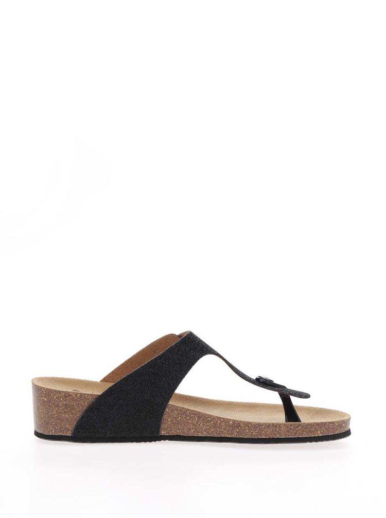 Papuci flip-flop negri Scholl Gandia