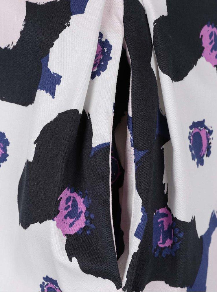 Rochie crem Closet cu imprimeu floral si pense
