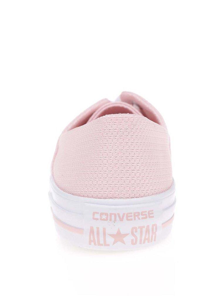 Tenisi roz pal Converse cu model discret