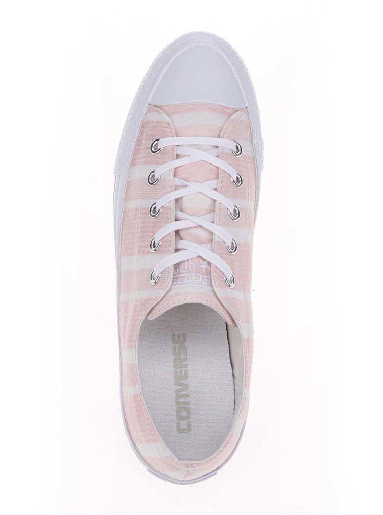 Růžové dámské pruhované tenisky Converse