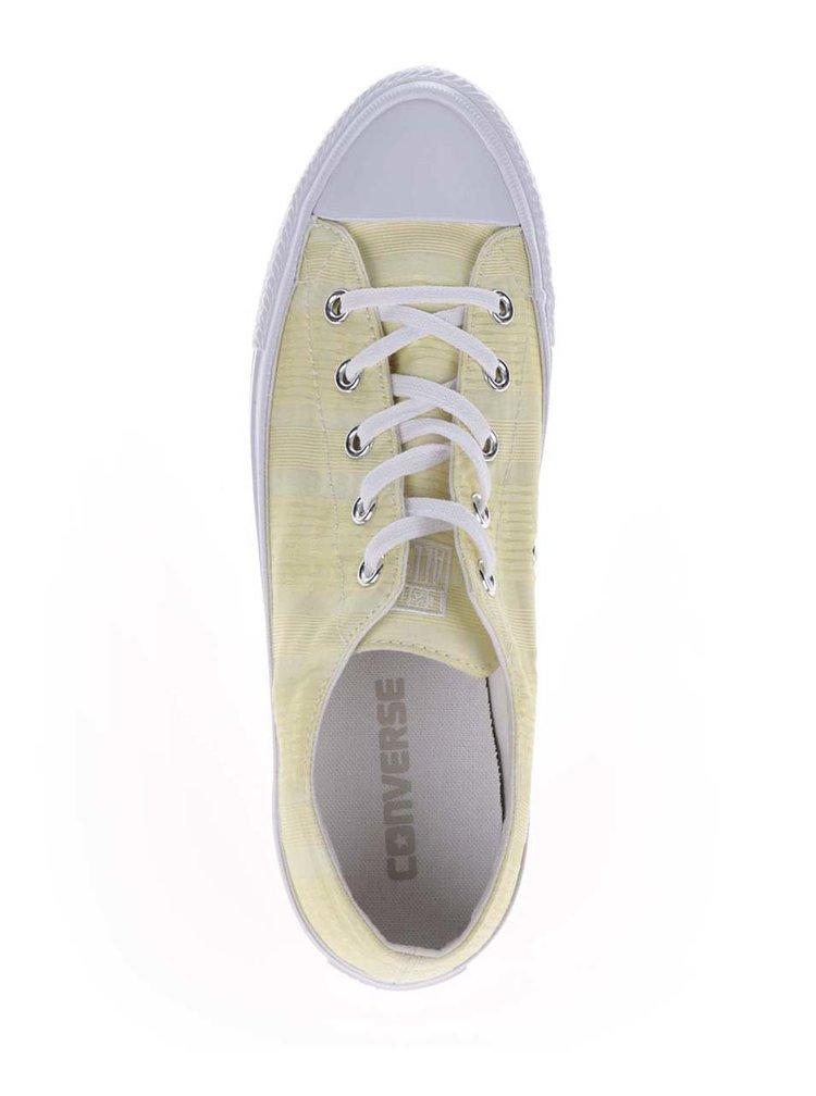 Žluté dámské pruhované tenisky Converse