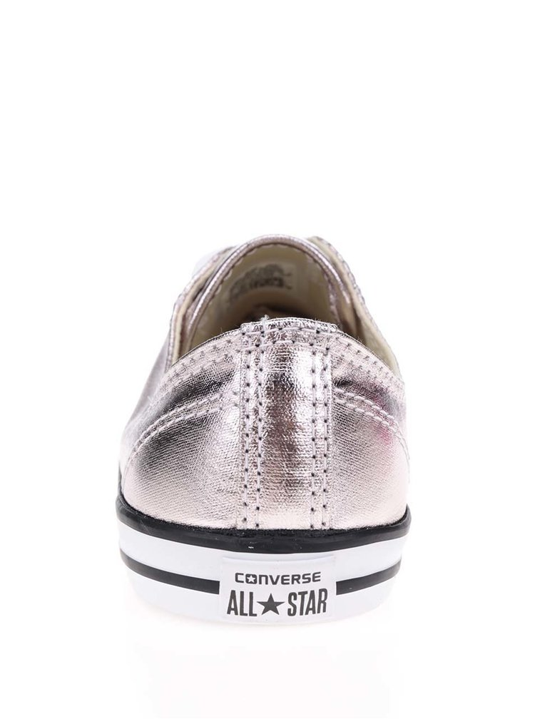 Dámské metalové tenisky v růžovo-zlaté barvě Converse Chuck Taylor All Star Dainty