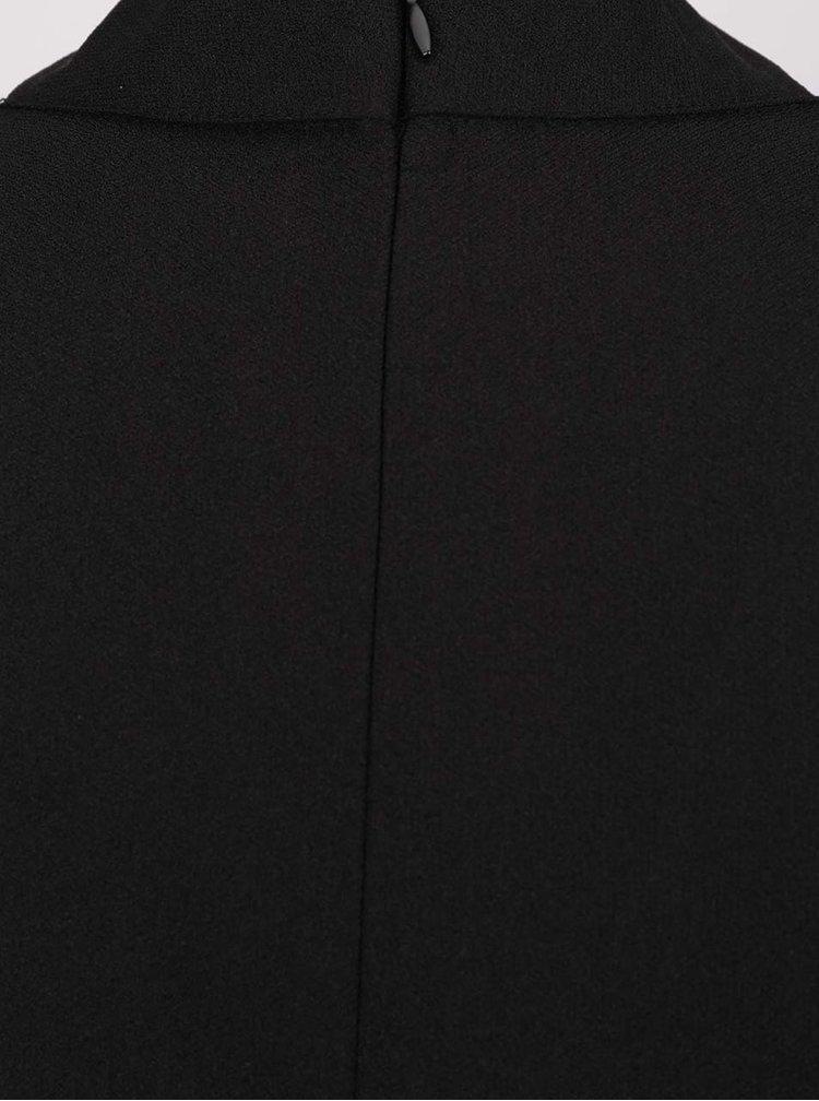 Černý top s prodlouženým zadním dílem Apricot