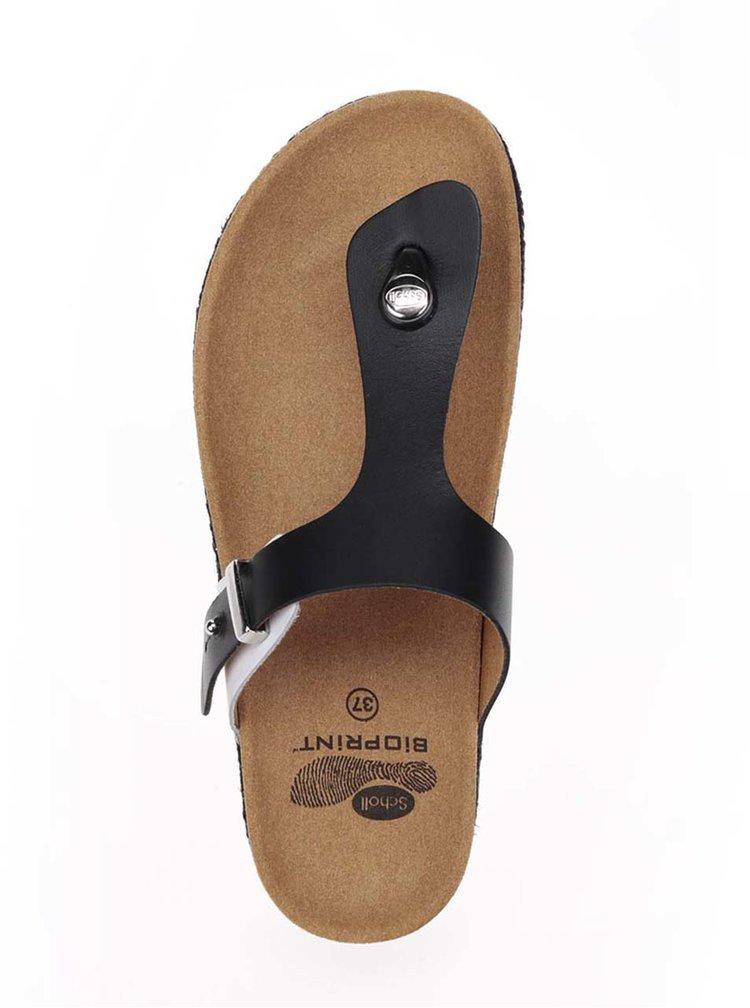 Papuci flip-flop negri Scholl Idylla din piele