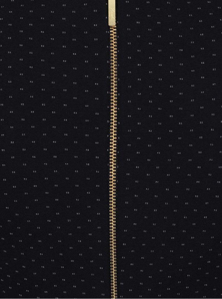 Tmavě modré pouzdrové šaty s jemným vzorem Closet