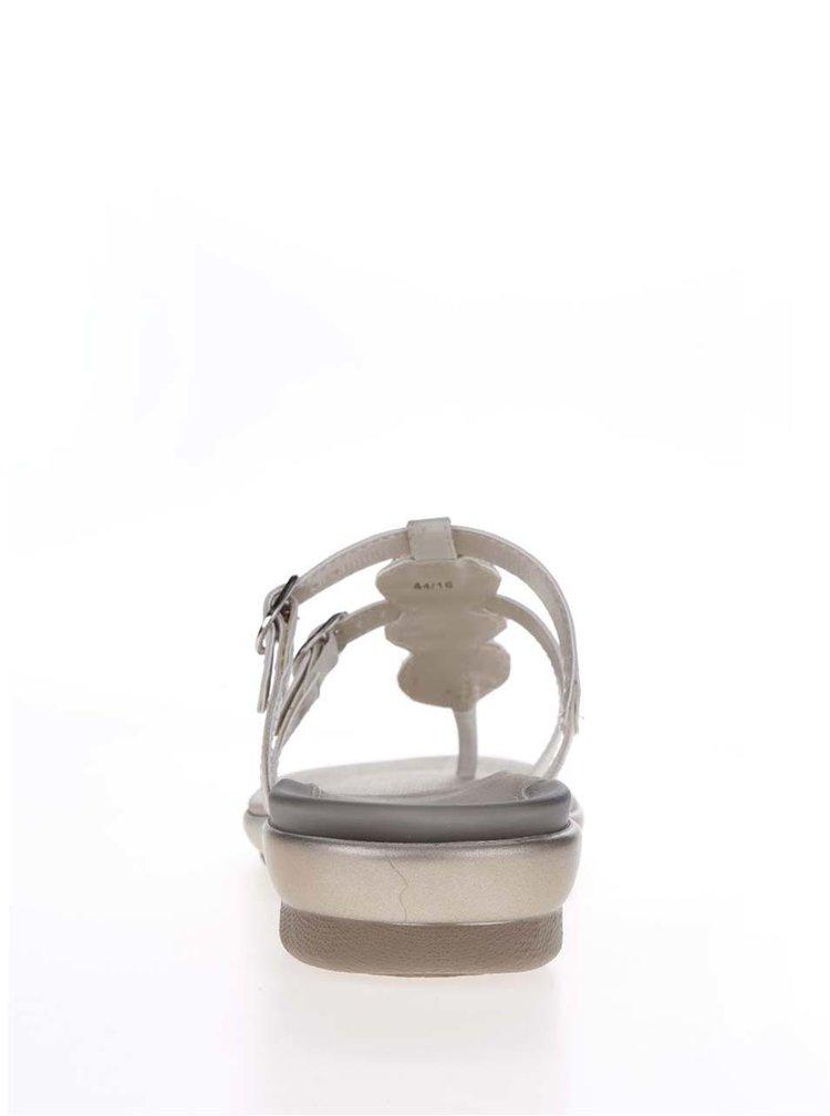 Krémové dámské zdravotní žabky Scholl Elbereth