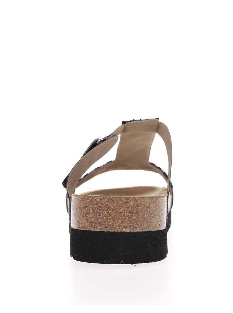 Černé dámské zdravotní pantofle Scholl Astrelle