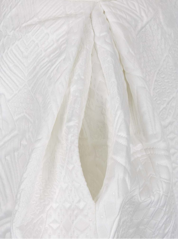 Fustă maxi crem cu model discret in relief Closet