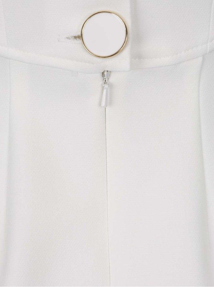 Krémové pouzdrové šaty s řasením v dekoltu a knoflíky na zádech Closet