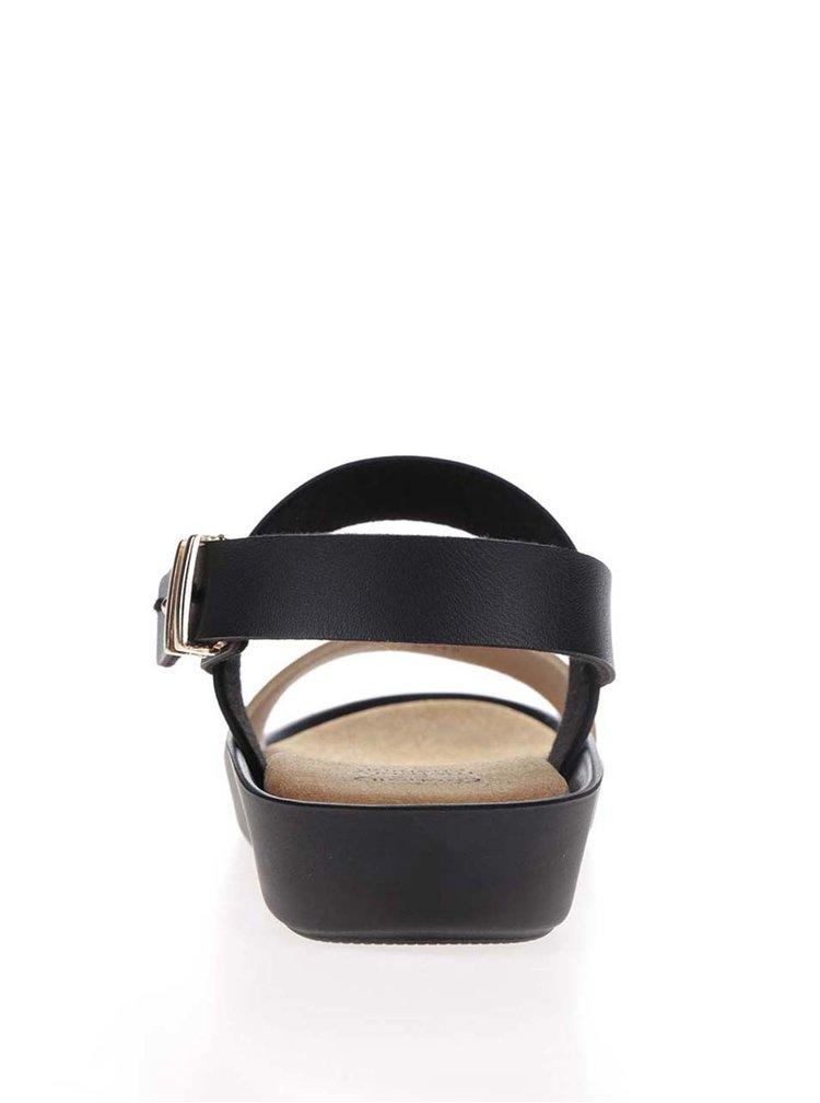 Sandale negre Scholl Mamore cu detalii aurii