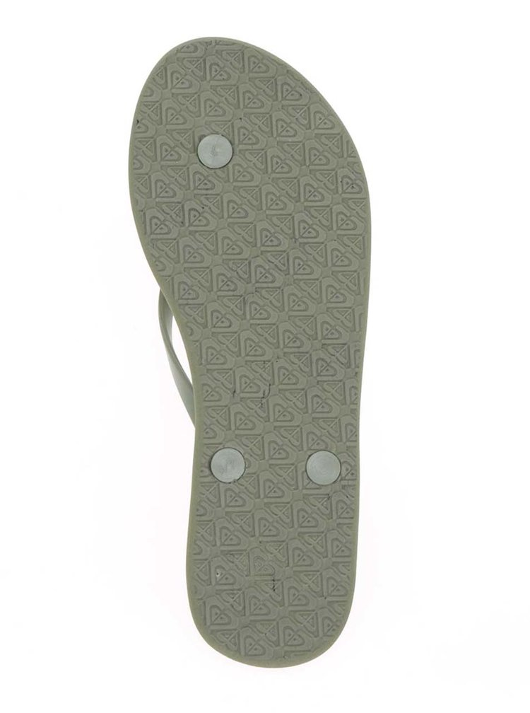 Zelené dámské žabky s plastickým vzorem Roxy Viva