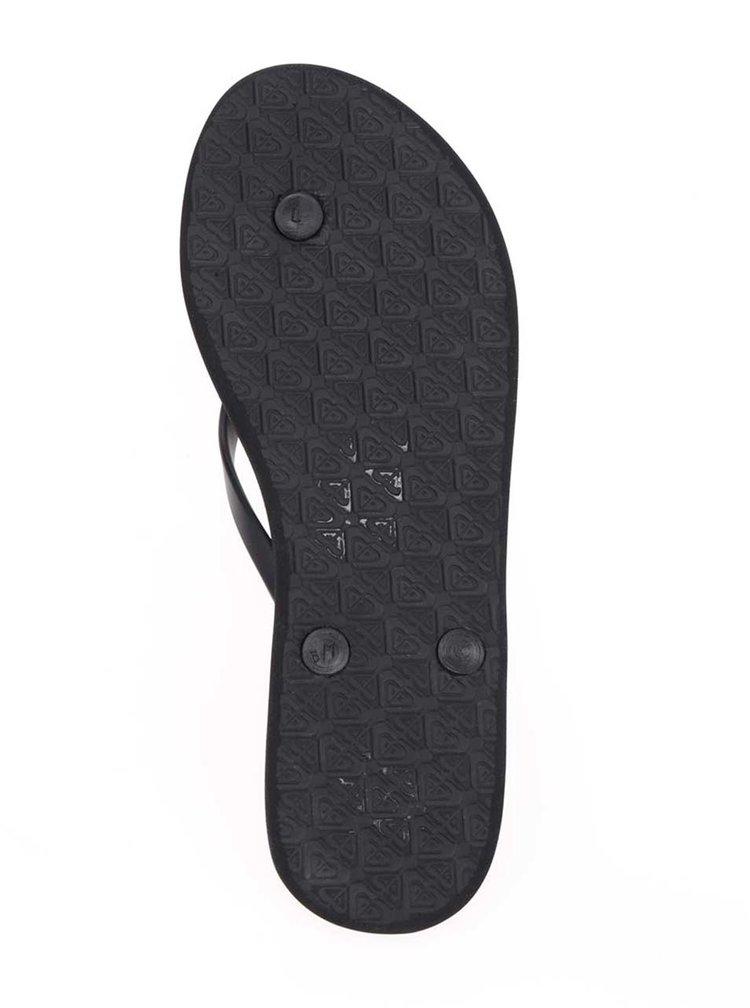 Černé dámské žabky s plastickým vzorem Roxy Viva