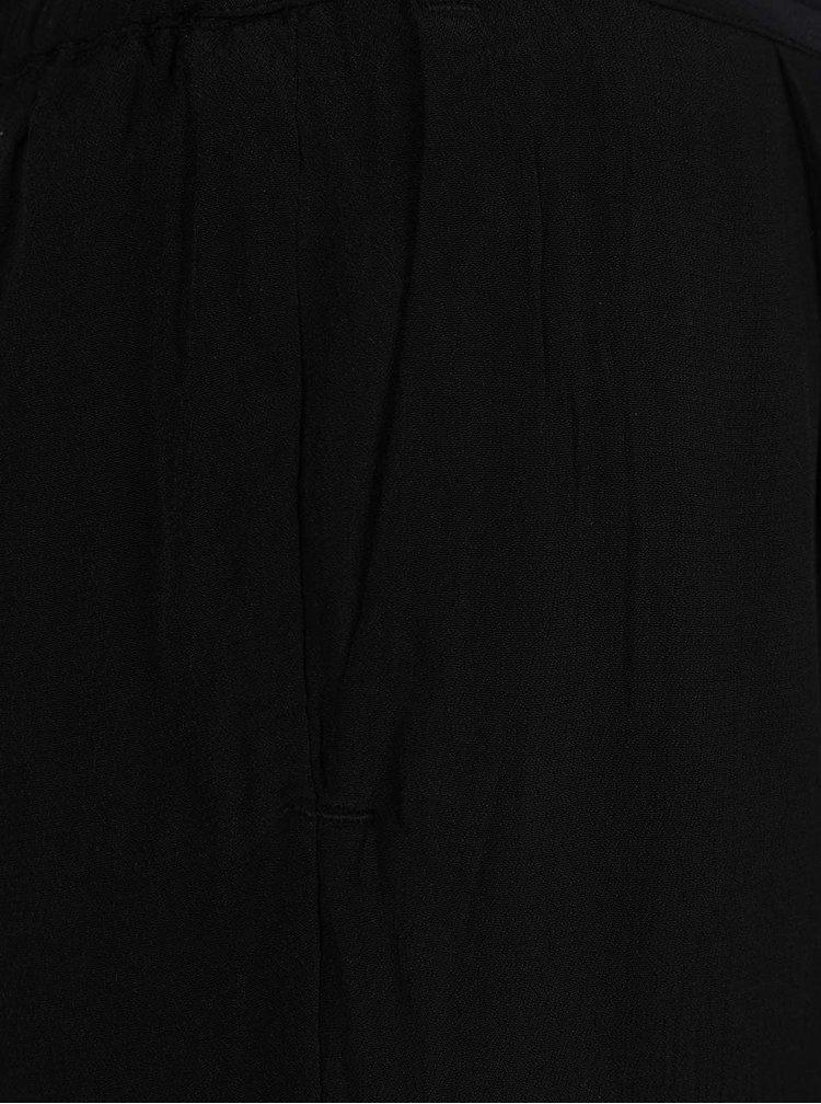 Černé volné kalhoty s pružným pasem VILA Loha