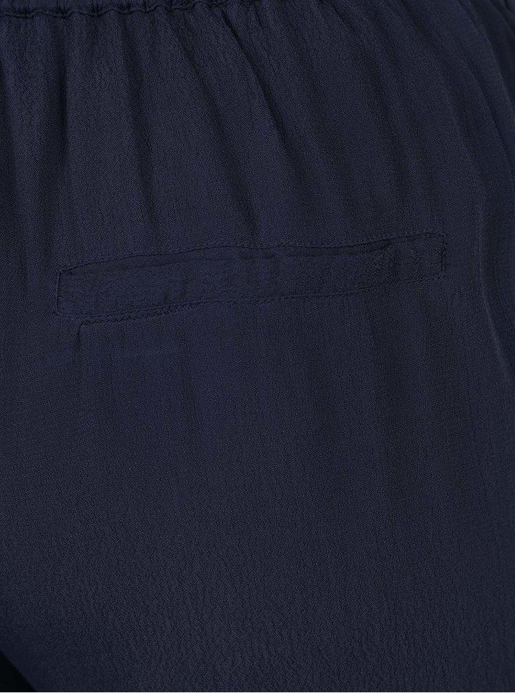 Tmavě modré volné kalhoty s pružným pasem VILA Loha