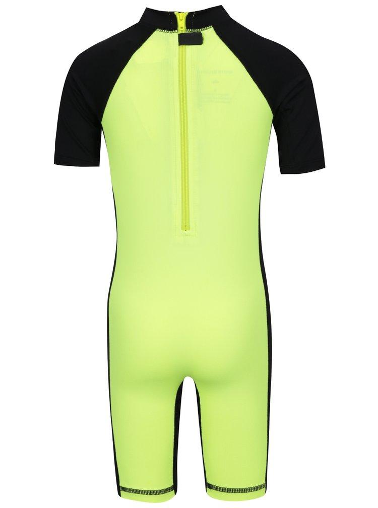 Costum de surf negru&galben Quiksilver Bubble Spring pentru baieti