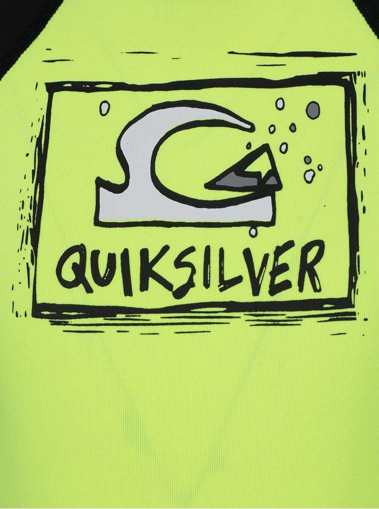 Černo-žlutý klučičí plavkový overal Quiksilver Bubble Spring