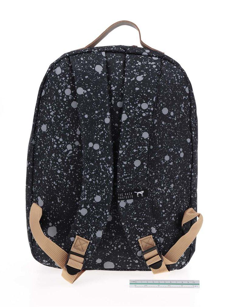 Černý vzorovaný unisex batoh The Pack Society 18 l