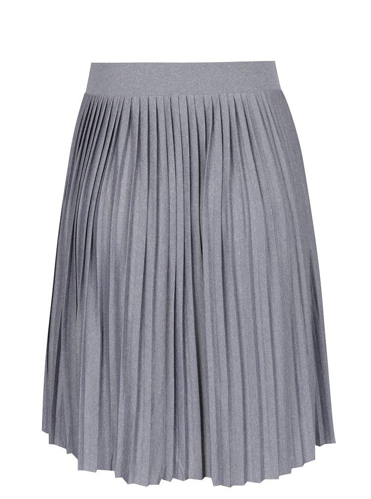 Modrošedá žíhaná plisovaná sukně VERO MODA Molly