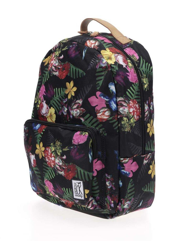 Černý dámský vzorovaný batoh The Pack Society 18 l