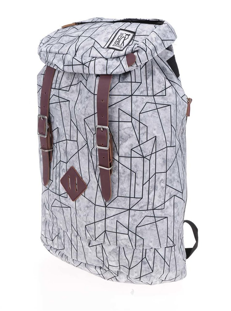 Rucsac gri unisex The Pack Society 23 l cu imprimeu geometric