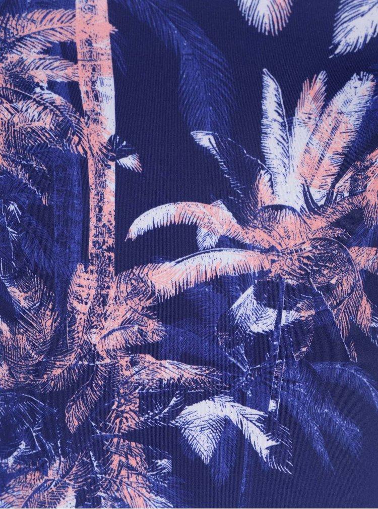 Costum de baie întreg albastru Roxy Kir cu model tropical