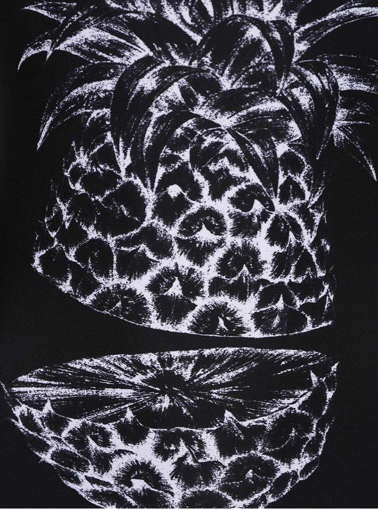 Costum de baie intreg negru Roxy Sum Pacif cu print