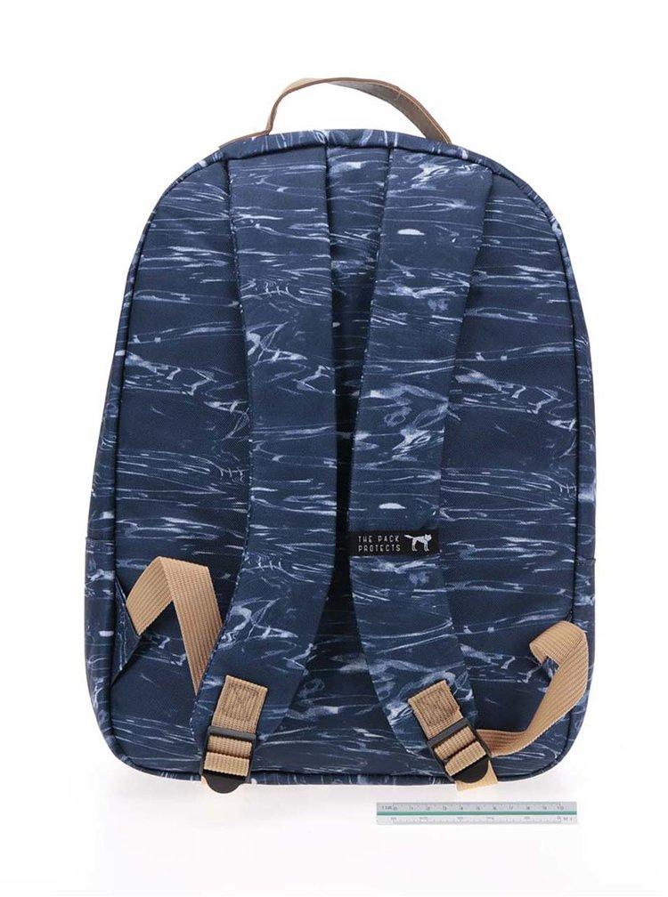 Rucsac unisex albastru închis The Pack Society 18 l cu model gri
