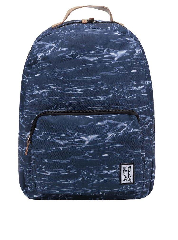 Rucsac unisex albastru inchis The Pack Society 18 l cu model gri